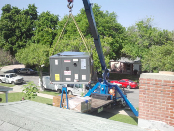 Roof top package unit installation